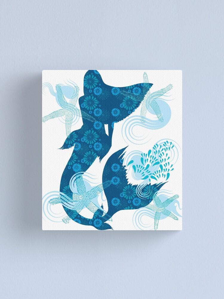 Alternate view of Mermaid Starfish Underwater Canvas Print