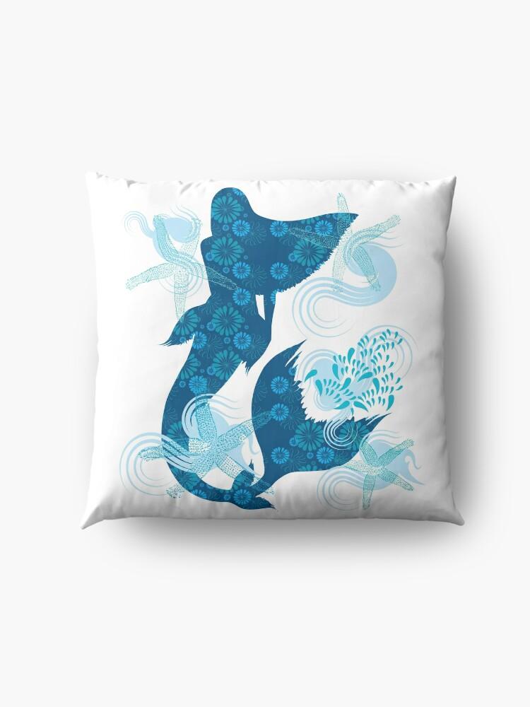 Alternate view of Mermaid Starfish Underwater Floor Pillow