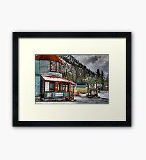 Hedley Trading Post Framed Print
