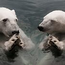 """Bear Prayer"" - polar bears look like they are praying by ArtThatSmiles"