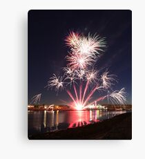 Red sky at night. Canvas Print