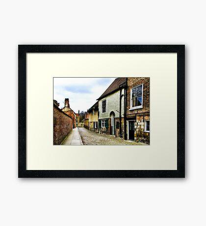 Down the Lane Framed Print