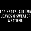 Spitzenknoten, Herbstlaub und Pullover Wetter von hopealittle