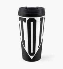 Stoic Triangle - Black Letters Travel Mug