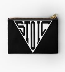 Stoic Triangle - Black Letters Zipper Pouch