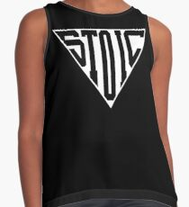 Stoic Triangle - Black Letters Sleeveless Top