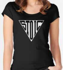 Stoic Triangle - Black Letters Fitted Scoop T-Shirt