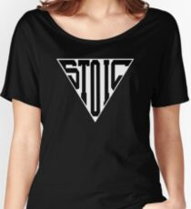 Stoic Triangle - Black Letters Relaxed Fit T-Shirt