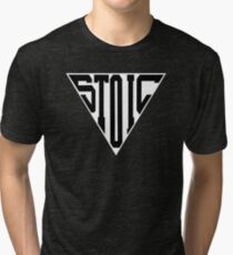 Stoic Triangle - Black Letters Tri-blend T-Shirt