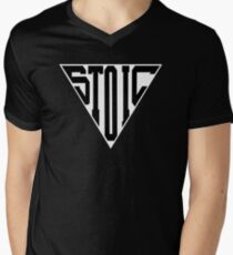 Stoic Triangle - Black Letters V-Neck T-Shirt
