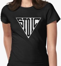 Stoic Triangle - Black Letters Fitted T-Shirt