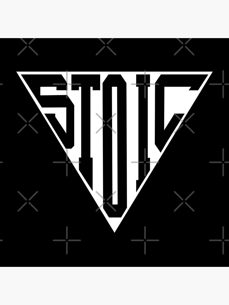 Stoic Triangle - Black Letters by StoicMagic