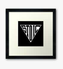 Stoic Triangle - Black Letters Framed Print