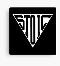 Stoic Triangle - Black Letters Canvas Print