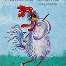 Golfing chicken by Linda Finstad