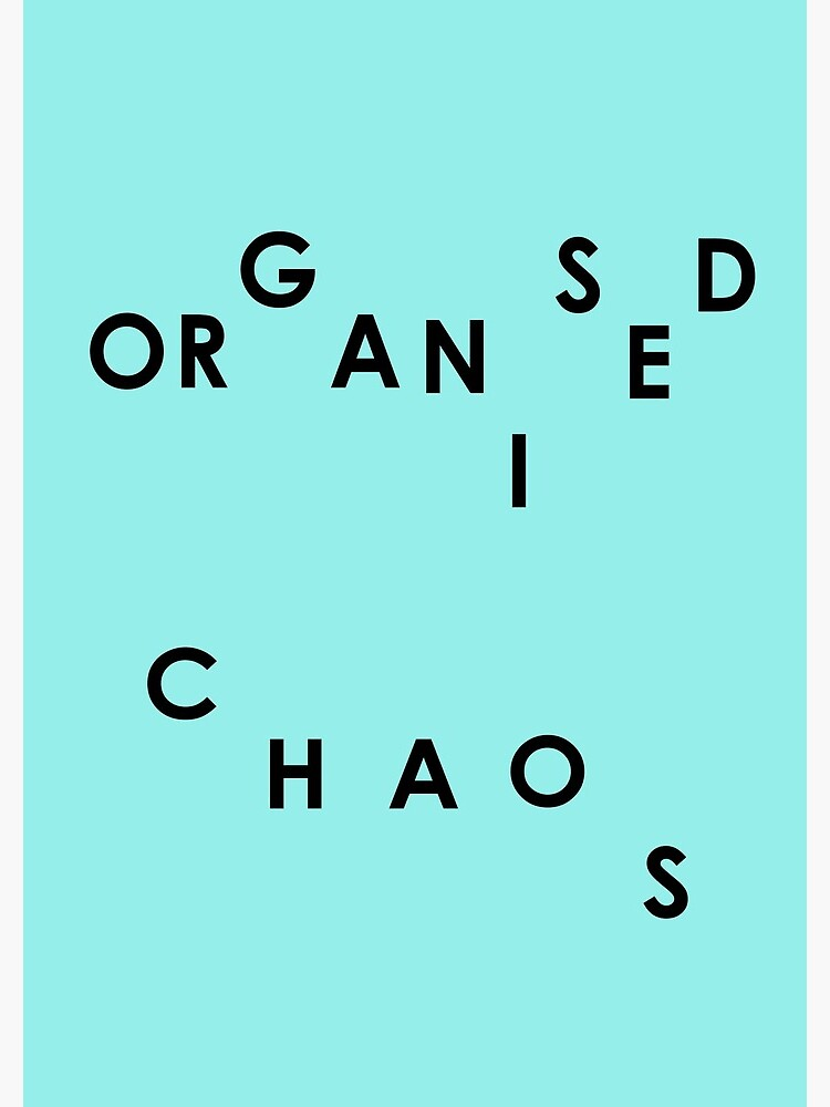 Organised Chaos - Notebook by embourne
