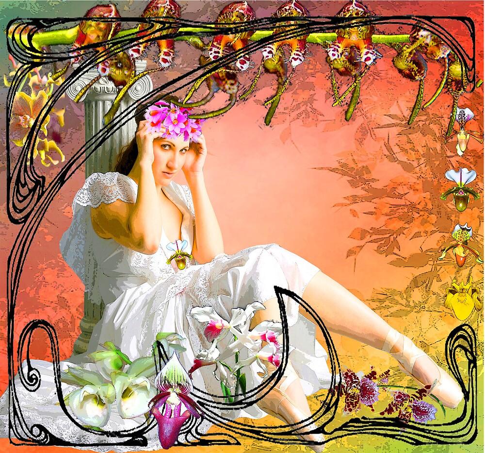 NOUVEAU ORCHID ~ DEDICATION TO GRANDMA ALBEE by Tammera