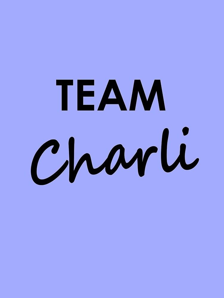 Team Charli - Drawstring Bag by embourne