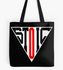 Stoic Triangle - Black Red Tote Bag