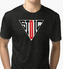 Stoic Triangle - Black Red Tri-blend T-Shirt