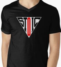 Stoic Triangle - Black Red V-Neck T-Shirt