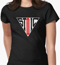 Stoic Triangle - Black Red Fitted T-Shirt