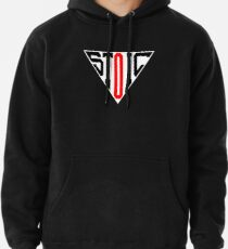 Stoic Triangle - Black Red Pullover Hoodie