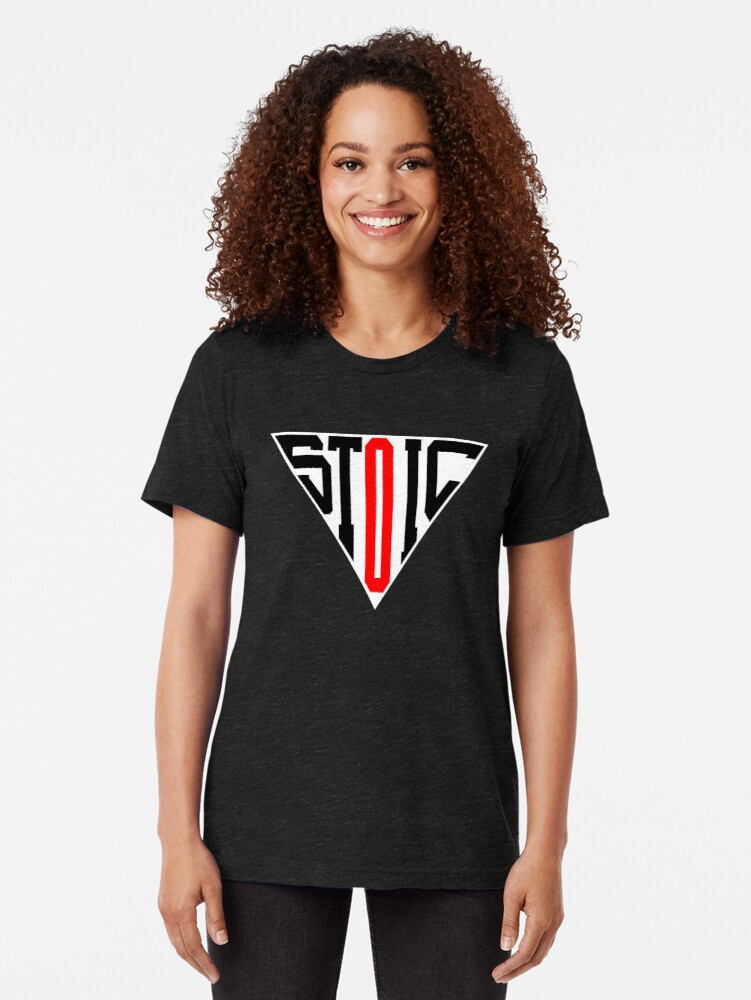 Alternate view of Stoic Triangle - Black Red Tri-blend T-Shirt