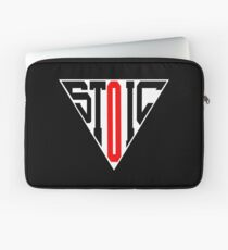 Stoic Triangle - Black Red Laptop Sleeve