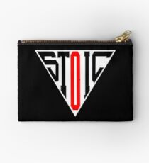 Stoic Triangle - Black Red Zipper Pouch