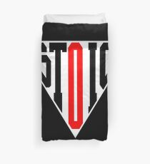 Stoic Triangle - Black Red Duvet Cover