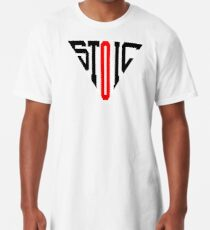 Stoic Triangle - Black Red Long T-Shirt