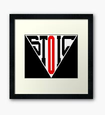 Stoic Triangle - Black Red Framed Print