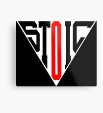 Stoic Triangle - Black Red Metal Print