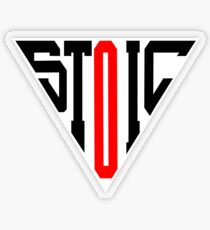 Stoic Triangle - Black Red Transparent Sticker