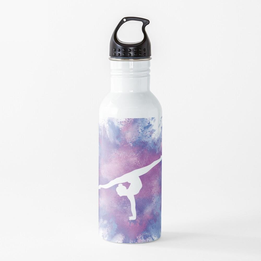 Gymnast Rainbow Explosion Pink Blue Water Bottle