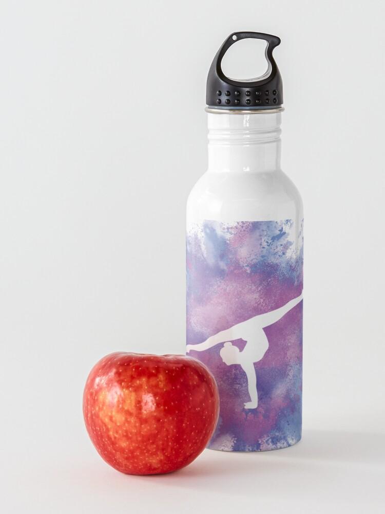 Alternate view of Gymnast Rainbow Explosion Pink Blue Water Bottle