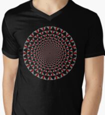 Stoic Flower - Red White V-Neck T-Shirt