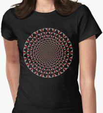 Stoic Flower - Red White Fitted T-Shirt