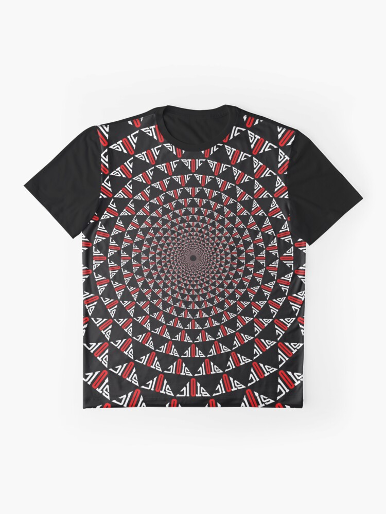 Alternate view of Stoic Flower - Red White Graphic T-Shirt