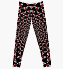 Stoic Flower - Red White Leggings