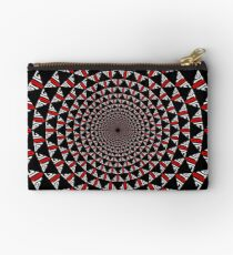 Stoic Flower - Red White Zipper Pouch