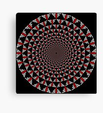 Stoic Flower - Red White Canvas Print