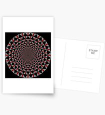 Stoic Flower - Red White Postcards