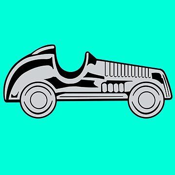 Vintage car geek funny nerd by jekonu