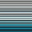Abstract monochrome and blue horizontal linework by cesarpadilla
