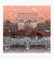 paris skyline abstract 6 Photographic Print