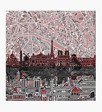 paris skyline abstract 7 Photographic Print