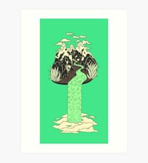Levitating Island with a Source coming from nowhere Art Print