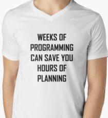 Camiseta de cuello en V Planifica tu programación.